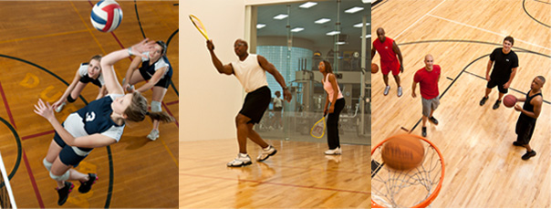 Join a fun and fit time with an LA Fitness Volleyball Racquetball or Basketball League
