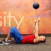 Med ball chest toss
