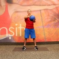 Medicine ball opposite shoulder raise from squat -2