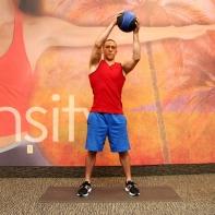 Medicine ball opposite shoulder raise from squat -3