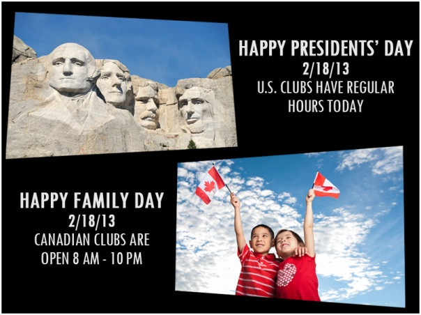 Presidents'-Day Hours and Family Day hours Canada for LA Fitness