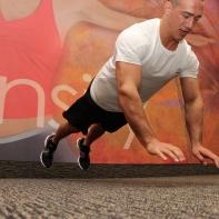 LA Fitness Member Bryant Performing Explosive Push-Ups