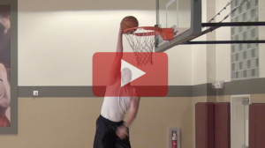 Lane bounce off the wall alley-oop 360