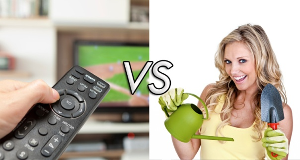 LA Fitness pits Television against Gardening and other household activity - Gardening Wins!