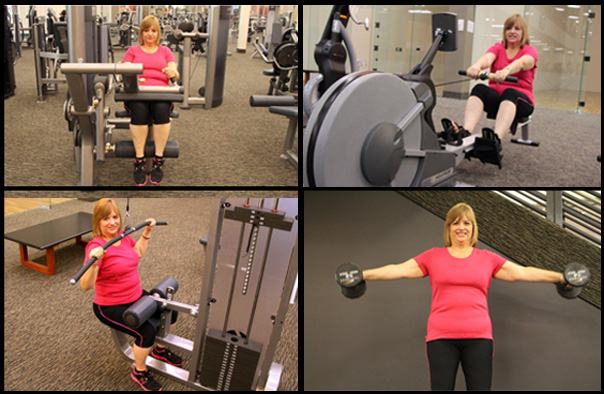 Mary-Collage-Training at LA Fitness San Antonio