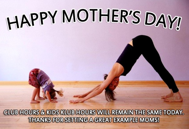 LA Fitness mother's day hours of operation and kids club hours