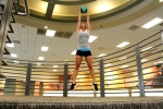 Haley Doing Jump Squats with a Medicine Ball - 2