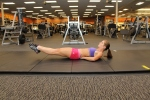 Bethany ab leg raise LA fitness 1