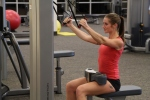 Bethany doing cable rows at LA Fitness 1