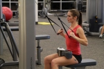 Bethany doing cable rows at LA Fitness 2