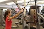 Bethany doing standing cable rows at LA Fitness 1
