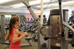 Bethany doing standing cable rows at LA Fitness 2