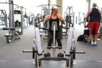 Alyssa free weight row at la fitness 2