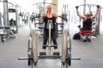 Alyssa free weight row at la fitness