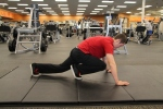 Tyler doing mountain climbers at la fitness 4