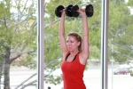 dumbbell shoulder press drop sets (2)