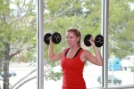 dumbbell shoulder press drop sets (3)