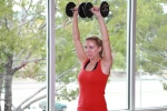 dumbbell shoulder press drop sets (4)