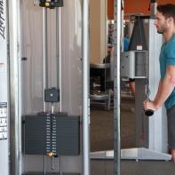 James-performing-tricep-push-down-drop-set-at-LA-Fitness-2