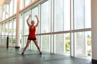 jumping jacks with Alyssa at LA fitness (2)