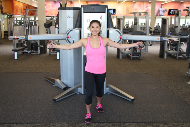Nico Performing Crossover Fly at LA Fitness - 2