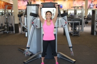 Nico Performing Squat to Shoulder Press at LA Fitness - 2