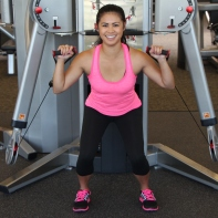 Nico Performing Squat to Shoulder Press at LA Fitness - 3