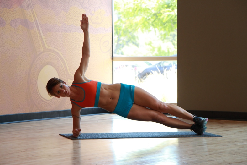 Bethany performing Over and Under Side Plank - 1