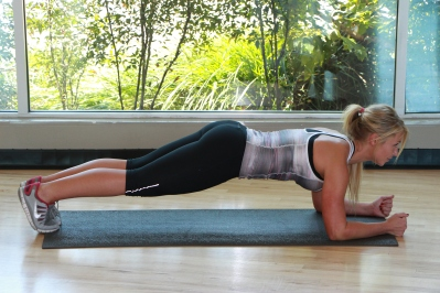 Plank for abs at LA Fitness