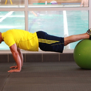 reverse crunch on stability ball at la fitness (2)