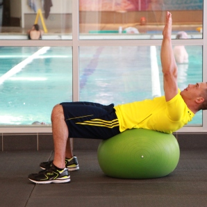 stability ball ab pops at la fitness (1)