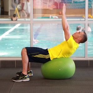stability ball ab pops at la fitness (2)