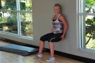 wall sit at LA Fitness