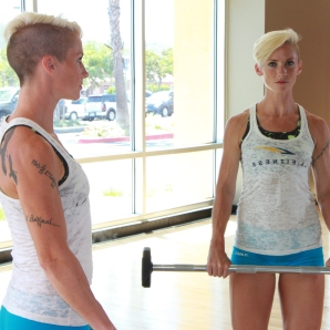 a reverse grip barbell curl from living healthy and LA Fitness (1)