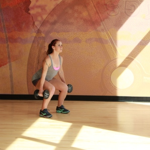 Bethany-doing-dumbbell-squat-at-LA-Fitness-2