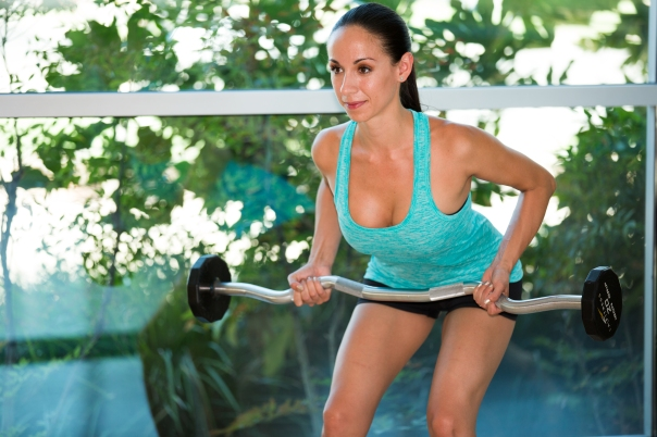 Barbell exercises for Back at LA Fitness with Kristen-2