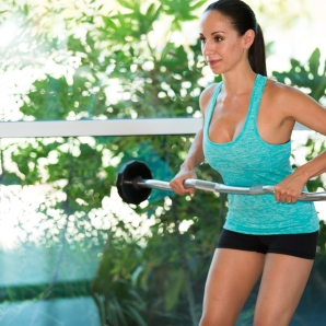 Barbell exercises for Back at LA Fitness with Kristen-5