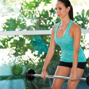 Barbell exercises for Back at LA Fitness with Kristen-6