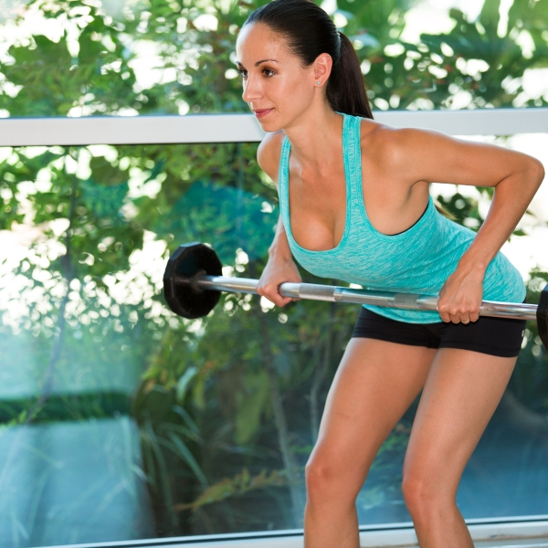 Barbell exercises for Back at LA Fitness with Kristen-8