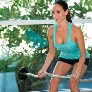 Barbell exercises for Back at LA Fitness with Kristen