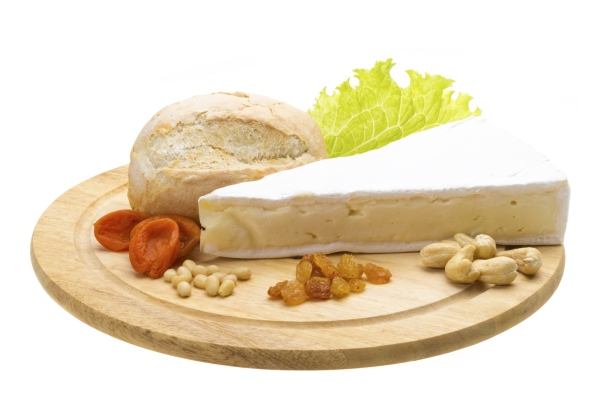 bread cheese and salad