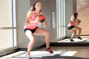 volleyball workout with Catherine at LA Fitness-14