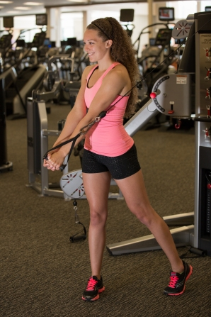 volleyball workout with Catherine at LA Fitness-3