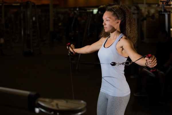 Cable exercises 101 back muscles with Catherine at LA Fitness-10