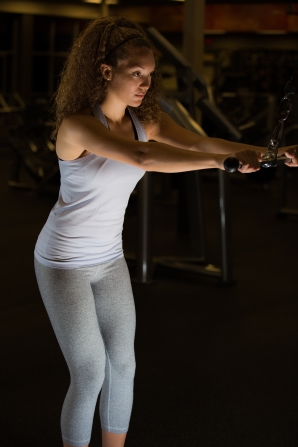 Cable exercises 101 back muscles with Catherine at LA Fitness-12