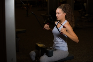 Cable exercises 101 back muscles with Catherine at LA Fitness-2