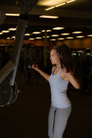 Cable exercises 101 back muscles with Catherine at LA Fitness-3