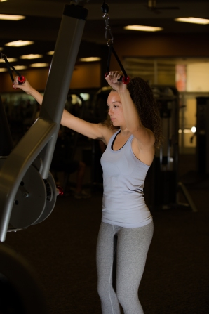 Cable exercises 101 back muscles with Catherine at LA Fitness-4