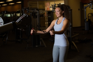 Cable exercises 101 back muscles with Catherine at LA Fitness-5