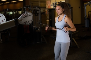 Cable exercises 101 back muscles with Catherine at LA Fitness-6